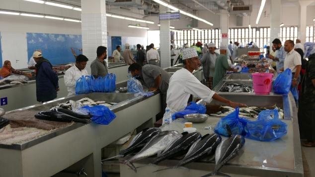 Modern fish market